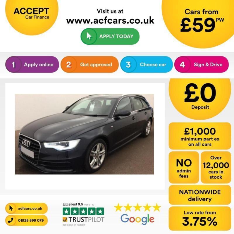 Audi A6 Avant 2.0TDI ( 177ps ) ( C7 ) 2012MY S Line FROM £59 PER WEEK !