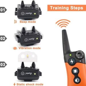 300M ELECTRIC REMOTE RECHARGEABLE DOG TRAINING BARK COLLAR