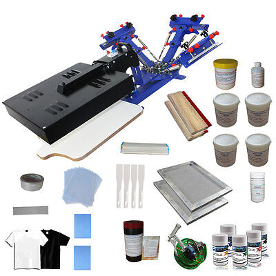 3 Color Silk Screen Printing Press Kit Flash Dryer Frame Coater T-shirt Printer