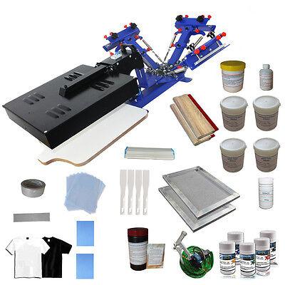 3 Color Silk Screen Printing Press Kit Flash Dryer Frame Coater T-shirt Printer