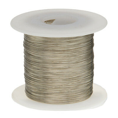 18 Awg Gauge Tinned Copper Wire Buss Wire 100 Length 0.0403 Silver
