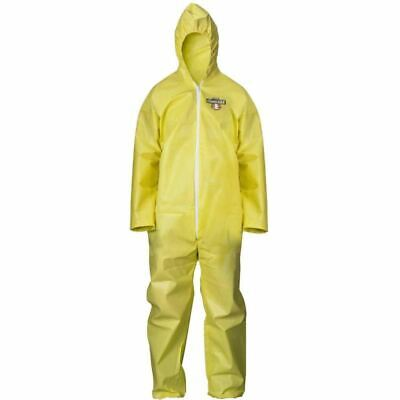 Lakeland Coverall Chemmax1 Yellow Polycoat Whood Elastic Wrists Ankles C5542