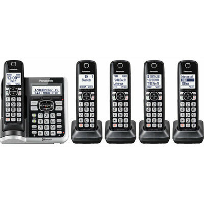 Panasonic KX-TGF575 Link2Cell Cordless Phone with 5 Handsets & Answering Machine