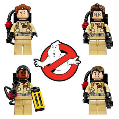 4Stk Ghost Busters Mini Figures Ghostbusters Building Blocks Toys Gift Fit lego