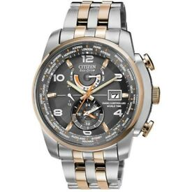 CITIZEN AT9016-56H Eco-Drive RADIO CONTROLLED SAPPHIRE watch NEW Warranty