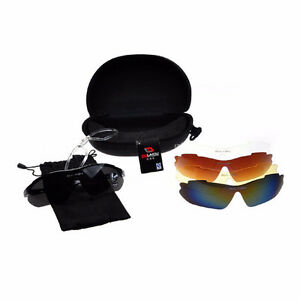 Sports Cycling Bike Bicycle Sunglasses UV400 5 Lenses 2 Types