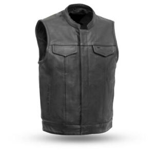 Leather and Denim Motorcycle vests at altimategear