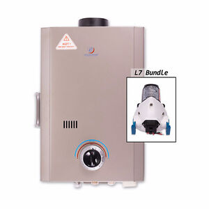 Eccotemp L7 Tankless Water Heater Bundle & 12V Flojet Pump