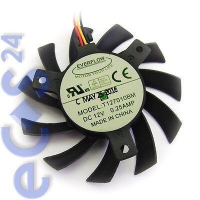 Everflow VGA Grafikkarten- Lüfter T127010BM Ersatzlüfter für PC Grafikkarte