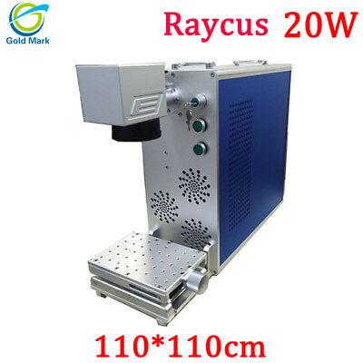 20w Fiber Laser Marking Machine 110110mm Metal Engraving Max Raycus With Ce Fda