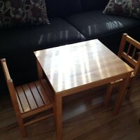 Table + 2 chairs for kids- IKEA