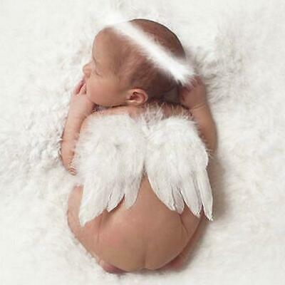 Fairy Angel Feather Wings Cupid Infant Baby Photo Props Party Fancy Costume HS3