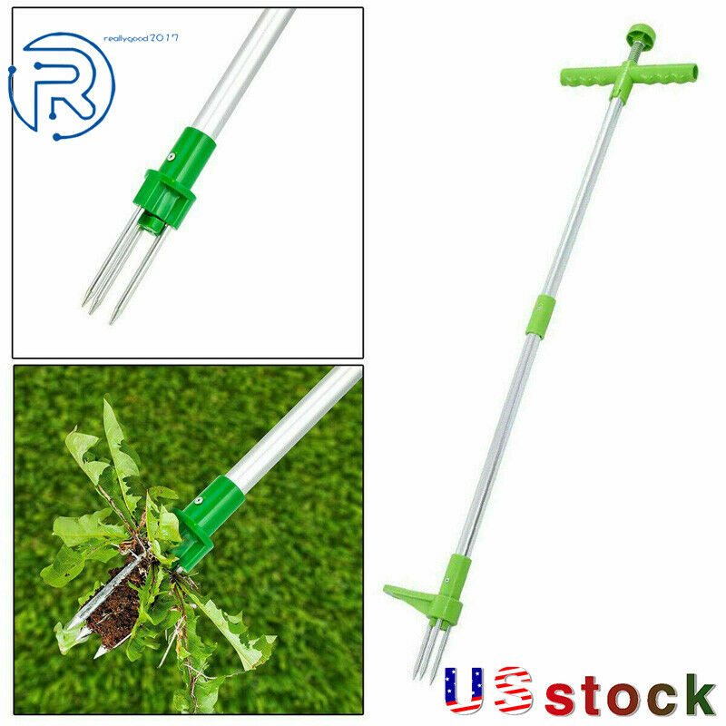 Green Weeding Puller Garden Lawn Root Remover Manually Easy Steel Claw Tool