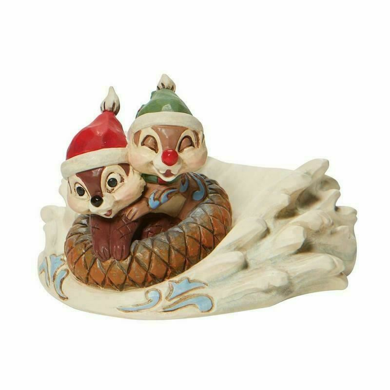 Disney Traditions Chip and Dale Saucer Sleddin Figurine 6008975