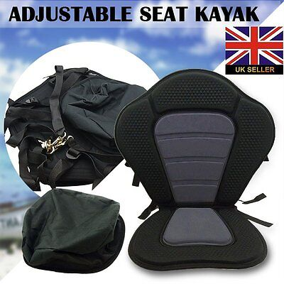 DELUXE KAYAK SEAT BACKREST FISHING SEAT FOR ULTIMATE COMFORT EVA OXFORD UK