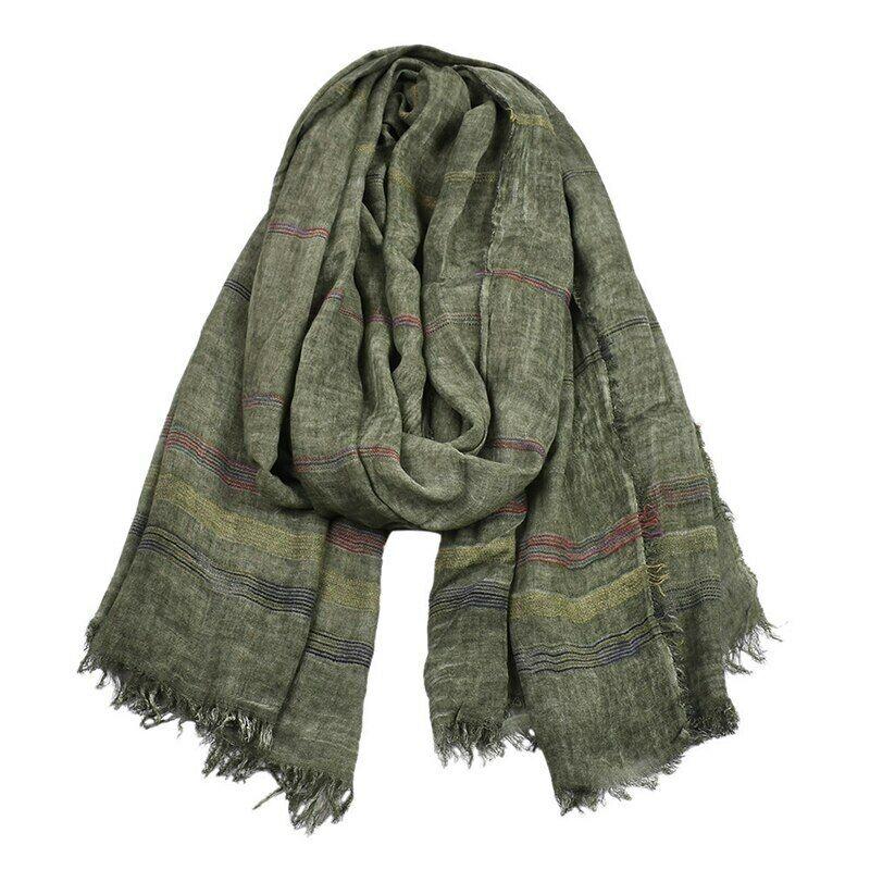 Men/'s Scarves Cotton Modal Large Long Warm Scarf Men Autumn Winter Woven Wrinkle