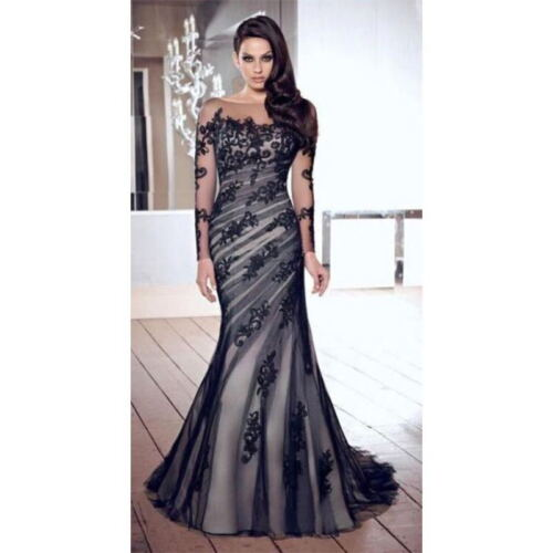 Купить Unbranded - Women Sexy Dress Lace Cocktail Slim Formal Gown Long Prom Ball Dress Bridal New