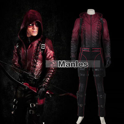 Green Arrow Season 3 Roy Harper Red Cosplay Costumes Jacket Party Comic Suits - Comic Suit