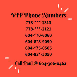 VIP Phone numbers ending 1313, 5050, 6060 & many more