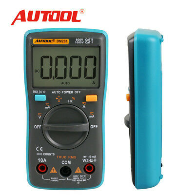 New Autool Dm201 Auto Pocket Mini 6000 Counts Portable Digital Multimeter Tester