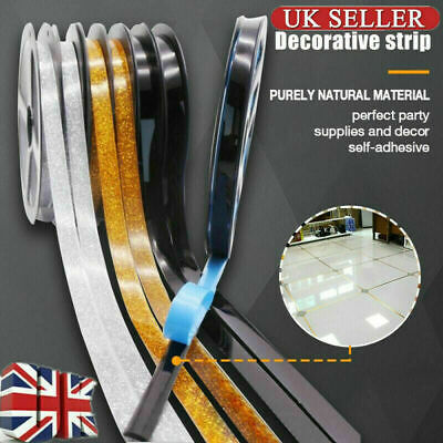 Ceramic Tile Mildewproof Gap Tape Self-adhesive - 6M/Roll -UK Free Shipping +