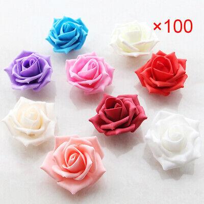 o Schaum Rosen Künstliche Blumen Rosenblüten Hochzeit (Lila Rosenblüten)