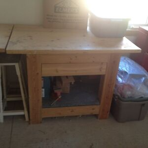 4' Long Super Heavy Duty 6x6 Post & Beam Large Work Bench