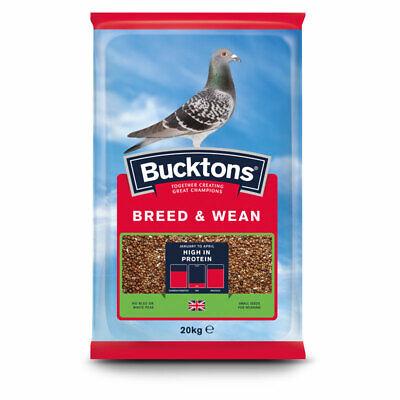 Bucktons Breed & Wean Pigeon Feed - High Protein Seed Mix Bird Food - 20kg