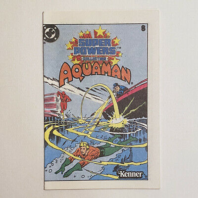 Vintage DC Super Powers Aquama Action Figure Mini Comic Book #8 Kenner 1984