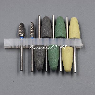 1 Kit Hp Dental Resin Base Acrylic Tungsten Carbide Steel Burs Drill Polisher