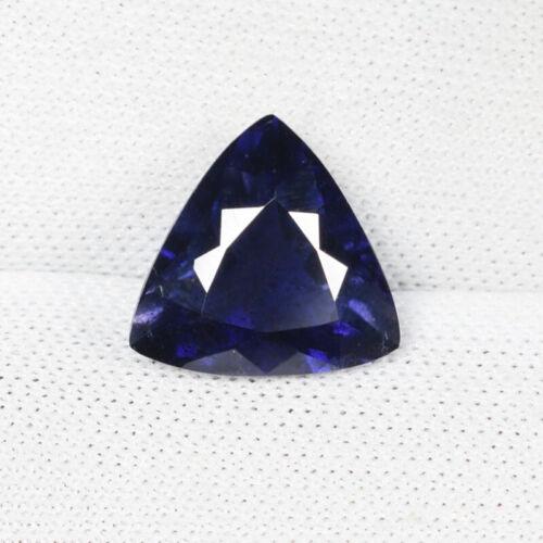 2.02 ct DAZZLING  DEEP  PURPLE BLUE -  NATURAL IOLITE - Trillion  1360 CL