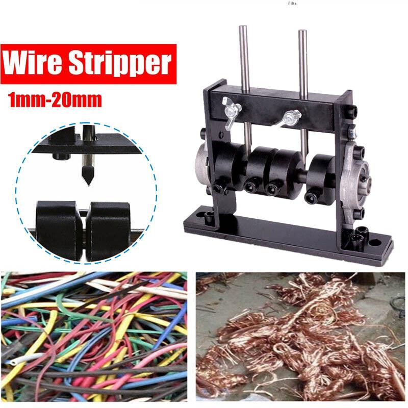 Manual Wire Stripping Machine Copper Cable Peeling Stripper w/ Cutter