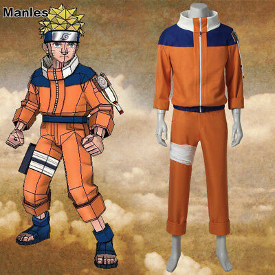 Naruto Outfits (Naruto Costume Uzumaki Naruto Cosplay Teen Ninja Halloween Anime Outfits)