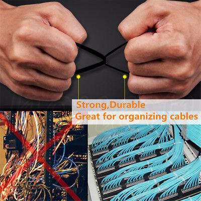 Releasable Plastic Nylon Cable Tie Zip Ties Wrap 8x450mm Self-locking Reusable