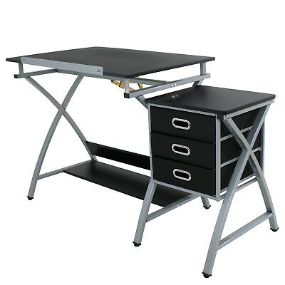Drawing Desk Art Drafting Table Art Craft with Stool Hobby Folding Adjustable Art Supplies