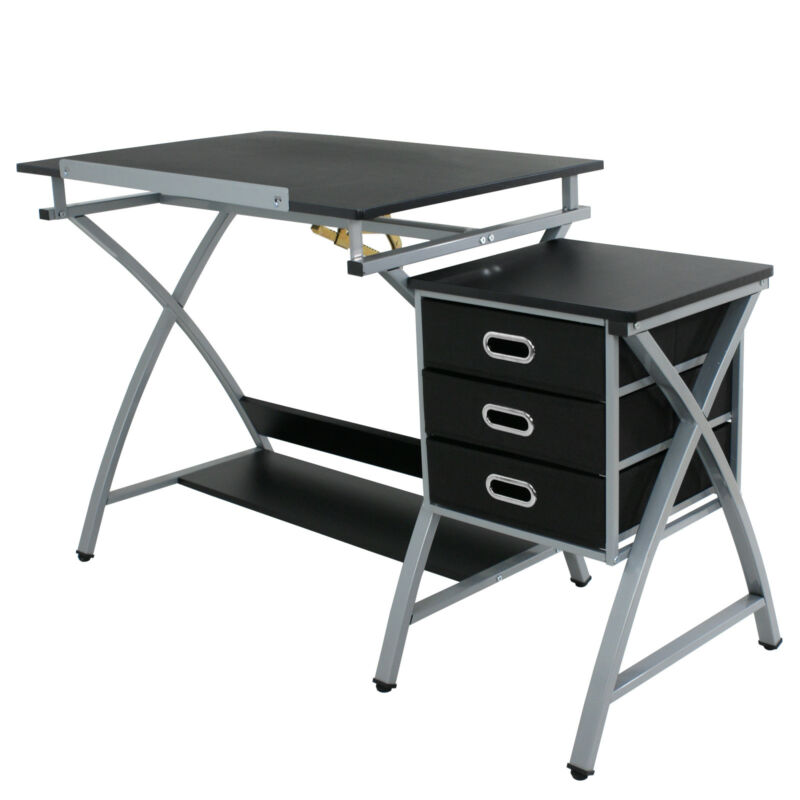 Drafting Table Art & Craft Drawing Desk Art Hobby Folding Adjustable with Stool