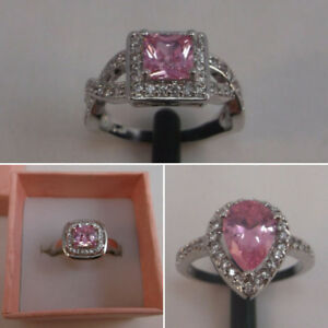 ((SALE)) 10K White Gold Filled Pink Sapphire Rings - 3 styles!