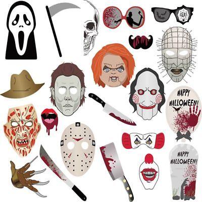 Foto Props 22Stk Halloween Party Masken gruselige Fotorequisiten (Gruselige Requisiten)