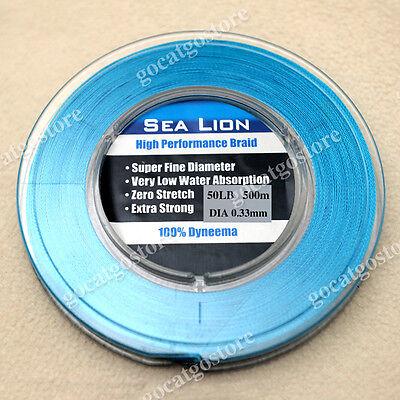 NEW Sea Lion 100% Dyneema Spectra Braid Fishing Line 500M 50lb Blue