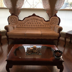 Custom Furniture made in Bombay!  Couch + Love seat + Chair!