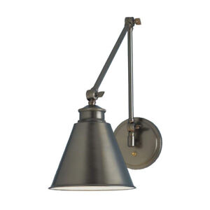 Norwell bronze light swing arm wall sconce set for sale
