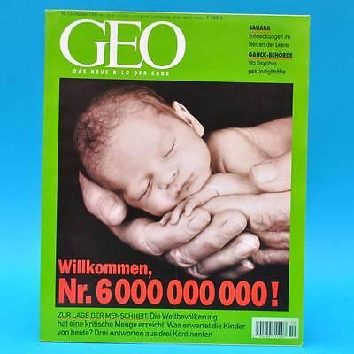 GEO Magazin 10/1999 Sahara-Seen Gauck-Behörde Kaspisches Meer Weltbevölkerung