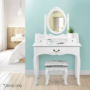 Artiss 3 Drawer Dressing Table with Mirror - White Sydney City Inner Sydney Preview