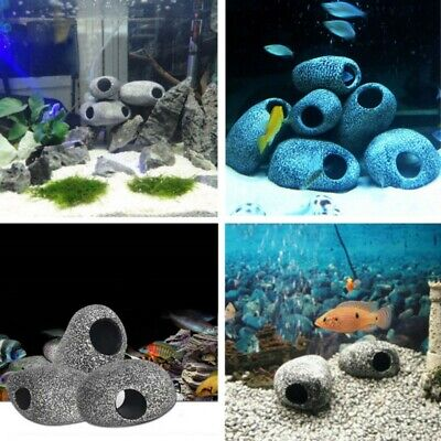 Aquarium Cichlid Stone Cave Fish Tank Pond Ornament Shrimp Breeding Decoration  (Fish Ornaments)