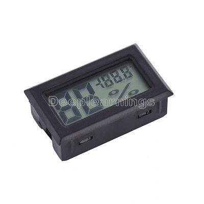 Digital LCD Indoor Temperature Humidity Meter Thermometer Hygrometer Black S