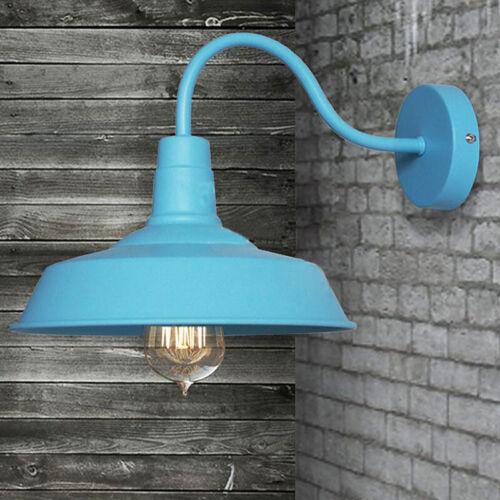 Elegant Blue Barn Style Wall Lighting