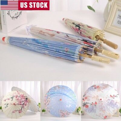 - Chinese Art Deco Painted Parasol Wedding Party Oil Paper Umbrella Photo Props
