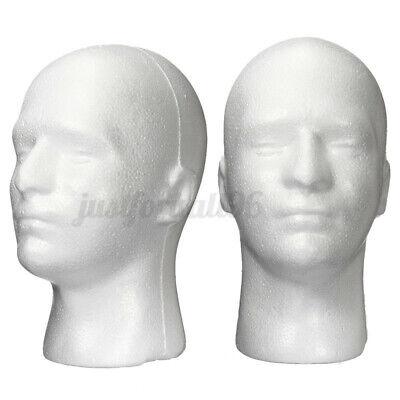 11 Male Styrofoam Foam Mannequin Manikin Head Model Wigs Glasses Cap Display
