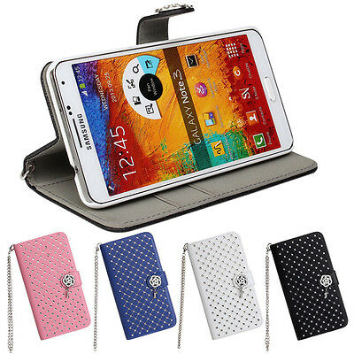 Best Used For Samsung Galaxy Note 3 Beautiful Stars Leather Wallet Case