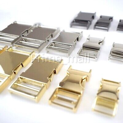 Metal Side Release Buckles - 1x Solid Metal Side Release Buckle for Bags Belts Lock Bracelet Premium Quality